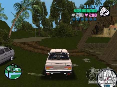 VAZ 2107 para GTA Vice City vista traseira esquerda