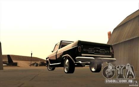 Chevrolet C-10 Fixxa para GTA San Andreas vista direita