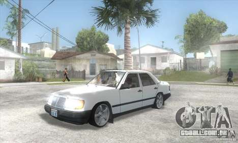 Mercedes-Benz 200D [W124] (1985) para GTA San Andreas vista interior