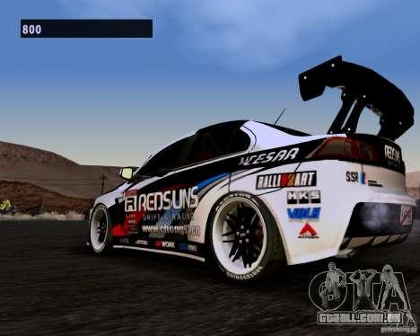 Mitsubishi Lancer Evo X 2008 para GTA San Andreas traseira esquerda vista