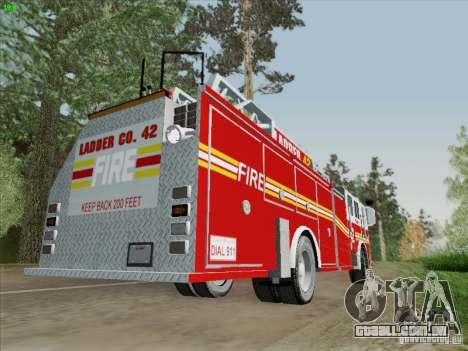 Seagrave Ladder 42 para GTA San Andreas vista traseira
