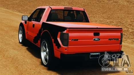 Ford F-150 SVT Raptor para GTA 4 traseira esquerda vista