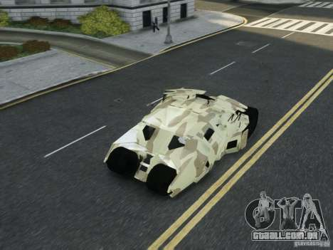 HQ Batman Tumbler para GTA 4 vista superior