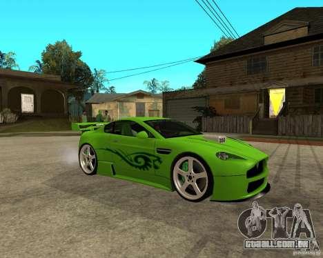 Aston Martin Vantage V8 - Green SHARK TUNING! para GTA San Andreas vista direita