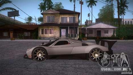 Pagani Zonda R para GTA San Andreas esquerda vista
