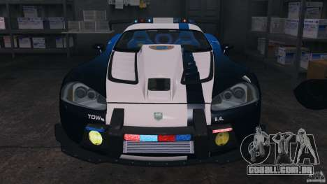 Dodge Viper SRT-10 ACR ELITE POLICE [ELS] para GTA 4 vista lateral