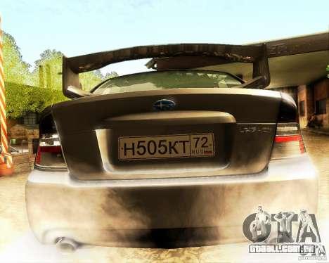 Subaru Legacy 3.0 R tuning para GTA San Andreas vista interior