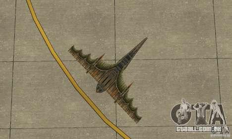 Belo avião de TimeShift para GTA San Andreas vista interior