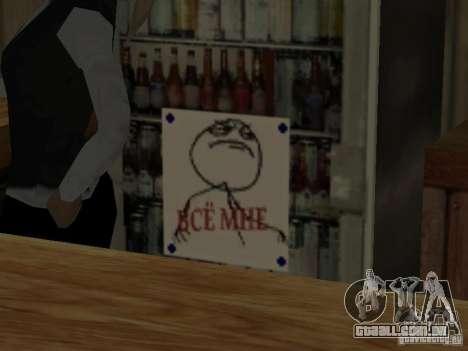 Bar de merda Sim para GTA San Andreas terceira tela
