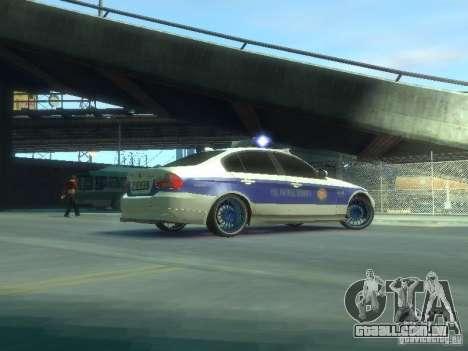 BMW 320i Police para GTA 4 vista de volta