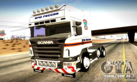 Scania R620 Emercom da Rússia para vista lateral GTA San Andreas