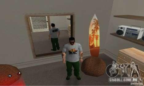 Dia verde t-shirt para GTA San Andreas segunda tela