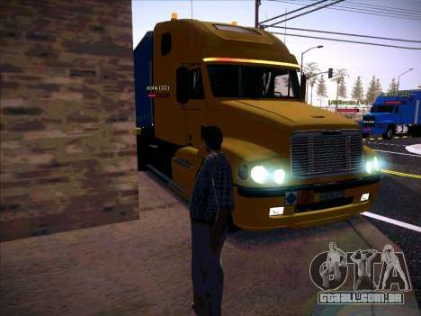 Freightliner Century Classic para vista lateral GTA San Andreas