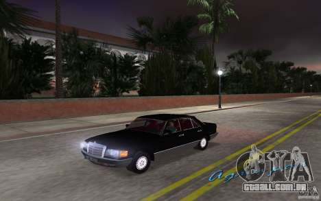 Mercedes-Benz W126 500SE para GTA Vice City vista direita