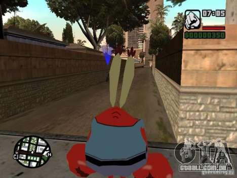 O Sr. Siriguejo para GTA San Andreas sexta tela
