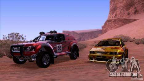 Seat Ibiza Rally para GTA San Andreas vista superior