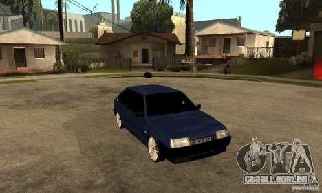 Lada VAZ 2108 para GTA San Andreas vista traseira
