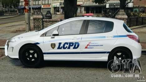 Peugeot 308 GTi 2011 Police v1.1 para GTA 4 esquerda vista