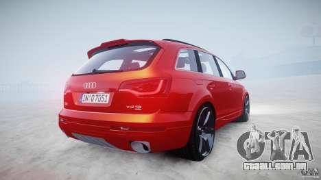 Audi Q7 LED Edit 2009 para GTA 4 vista interior