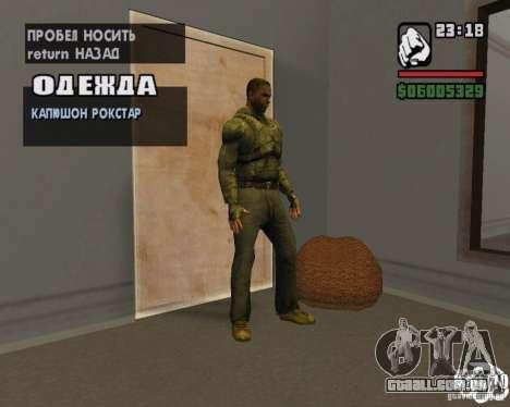 Roupas de um stalker para GTA San Andreas segunda tela