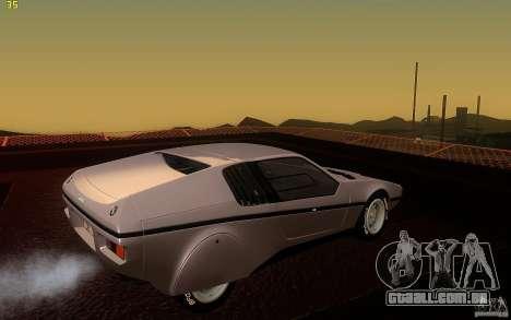 BMW Turbo 1972 para GTA San Andreas vista direita