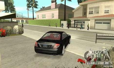 Mercedes-Benz CL500 para GTA San Andreas esquerda vista