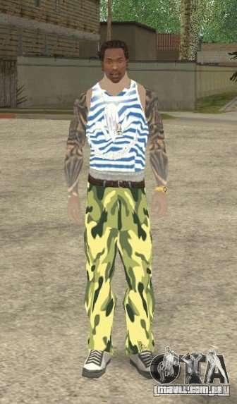CJ VDV para GTA San Andreas segunda tela