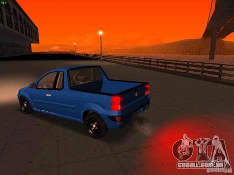 Nissan NP200 para GTA San Andreas vista direita