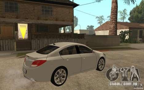 Opel Insignia OPC 2010 para GTA San Andreas vista direita