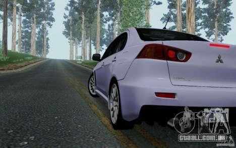 Mitsubishi Lancer Evolution X Tunable para GTA San Andreas vista direita