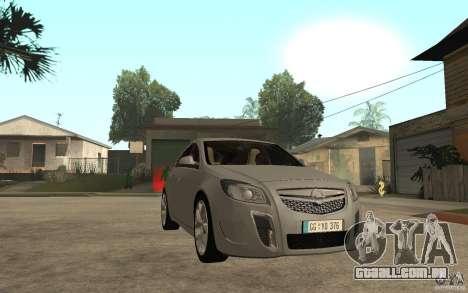 Opel Insignia OPC 2010 para GTA San Andreas vista traseira