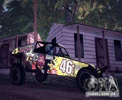 Buggy Monster energy para GTA San Andreas esquerda vista