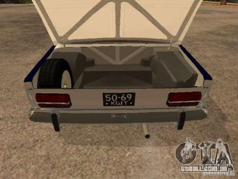 Polícia VAZ 2103 para GTA San Andreas vista interior