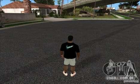 T-shirt por Nike para GTA San Andreas