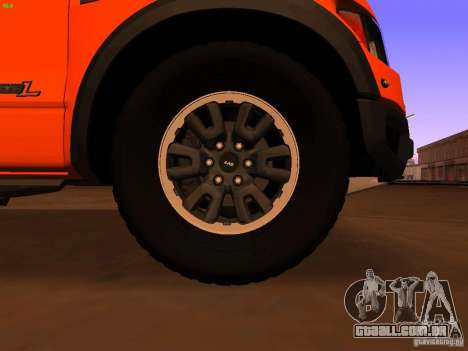 Ford F-150 SVT Raptor 2009 Final para GTA San Andreas vista traseira