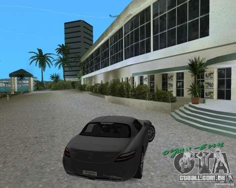 Mercedes Benz SLS AMG para GTA Vice City deixou vista