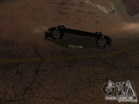 Não queimam carros tombados para GTA San Andreas quinto tela