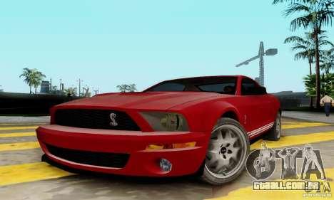 Ford Shelby GT500 para GTA San Andreas esquerda vista