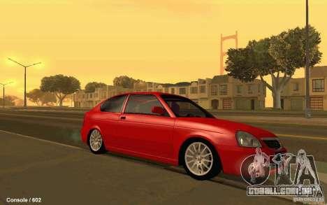 Lada Priora Coupe para GTA San Andreas esquerda vista