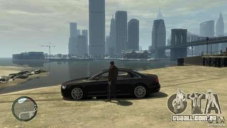 Audi A8 V8 FSI para GTA 4 vista direita