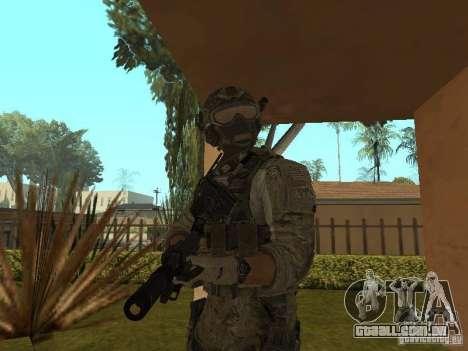 M4A1 com ACOG de CoD MW3 para GTA San Andreas terceira tela
