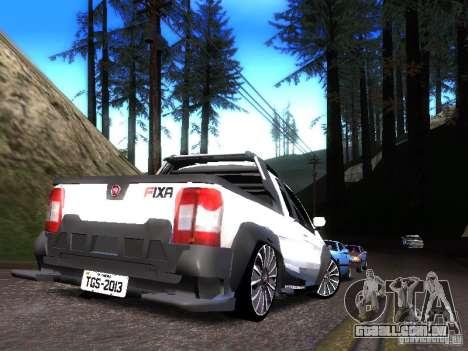 Fiat Strada para GTA San Andreas traseira esquerda vista
