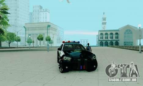 Dodge Charger 2012 Police para GTA San Andreas vista direita