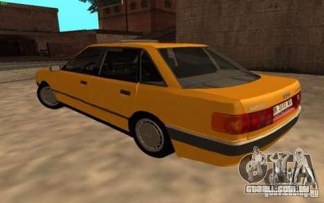 Audi 90 Quattro 20V para GTA San Andreas traseira esquerda vista
