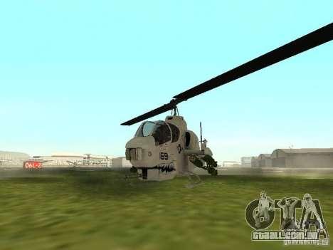 AH-1 Supercobra para GTA San Andreas esquerda vista
