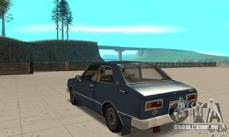 Toyota Corolla 1977 para GTA San Andreas traseira esquerda vista