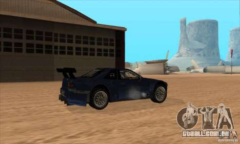 Nissan Skyline R34 GT-R LM para vista lateral GTA San Andreas