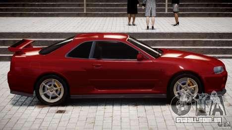 Nissan Skyline GT-R 34 V-Spec para GTA 4 vista inferior
