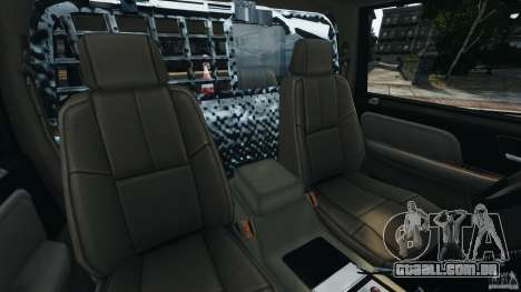 Chevrolet Tahoe LCPD SWAT para GTA 4 vista interior
