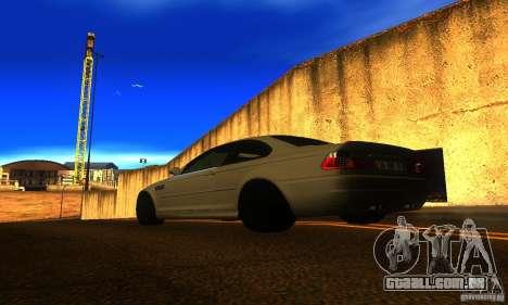 BMW M3 E46 TUNEABLE para GTA San Andreas esquerda vista